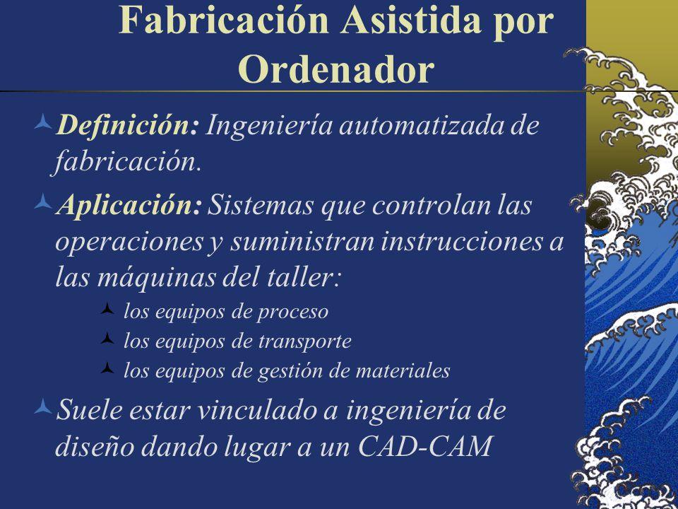 Fabricación Asistida por Ordenador Definición: Ingeniería automatizada de fabricación.