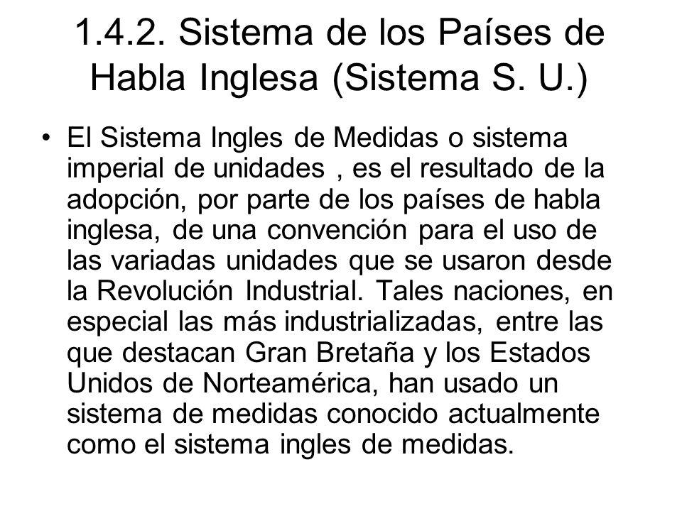 1.4.2.Sistema de los Países de Habla Inglesa (Sistema S.
