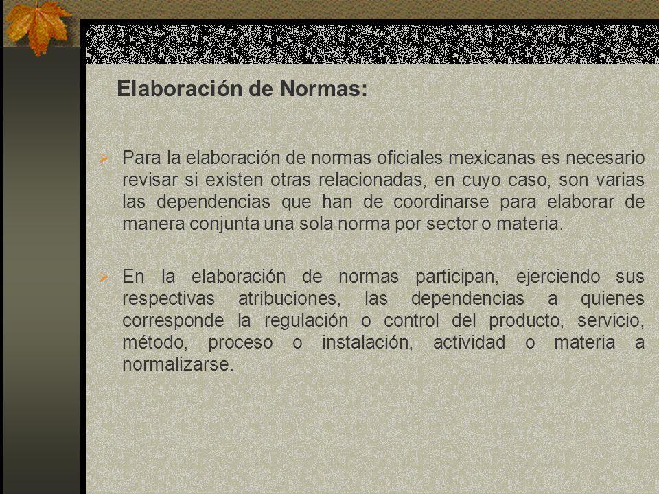 Para la elaboración de normas oficiales mexicanas es necesario revisar si existen otras relacionadas, en cuyo caso, son varias las dependencias que ha