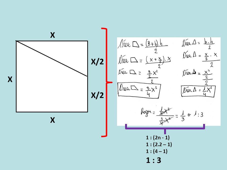 X X/2 X X 1 : (2n - 1) 1 : (2.2 – 1) 1 : (4 – 1) 1 : 3