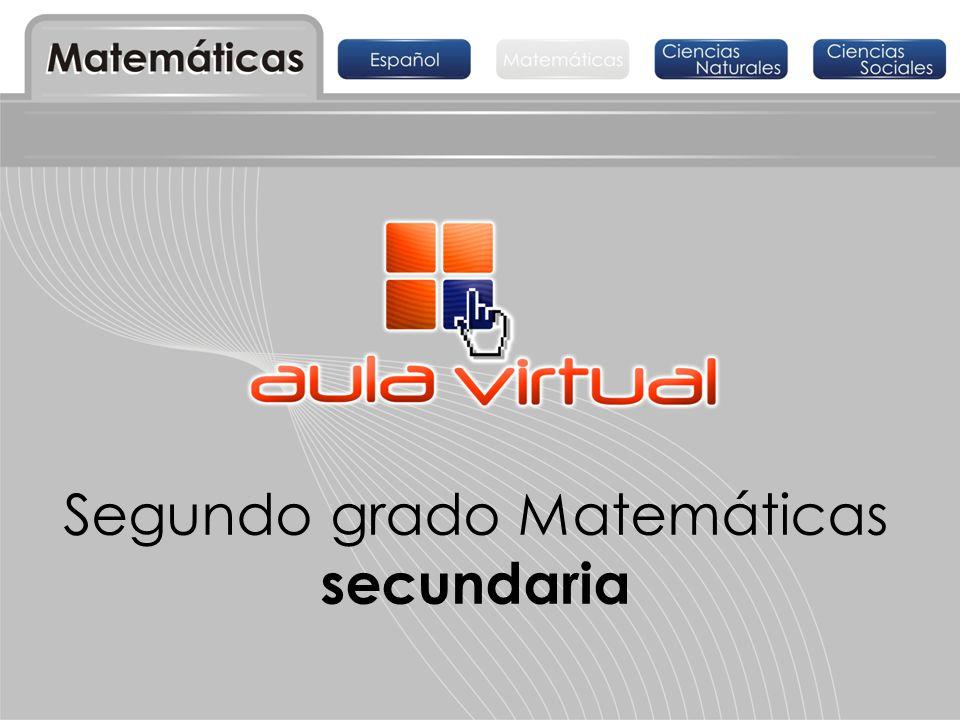 Segundo grado Matemáticas secundaria