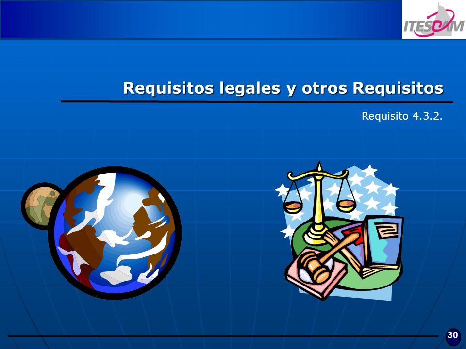 30 Requisitos legales y otros Requisitos Requisito 4.3.2.