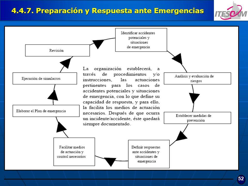 52 4.4.7. Preparación y Respuesta ante Emergencias