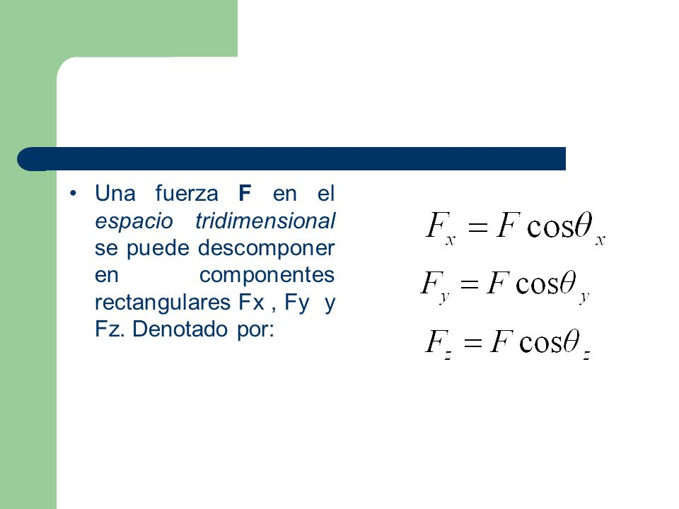 Los ángulos que F forma, respectivamente, con los ejes x, y, y z se tiene: