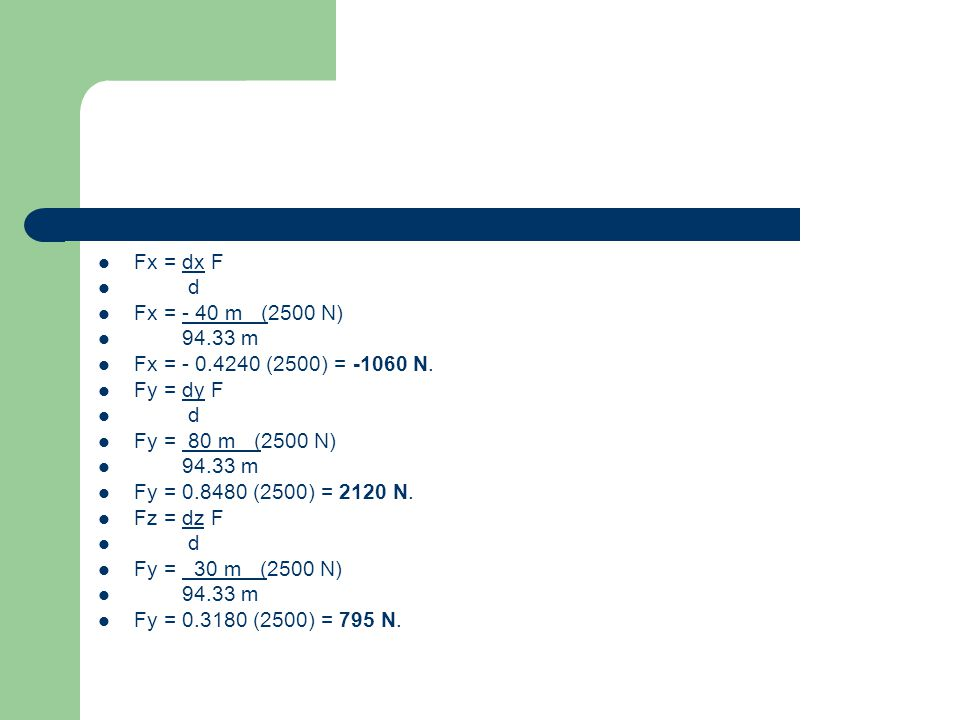 7.- Una fuerza actúa en el origen de un sistema coordenado en la dirección dada por los ángulos Θy=55° y Θz=45°.