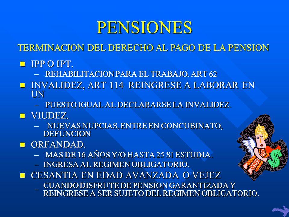 PENSIONES IPP O IPT.IPP O IPT. – REHABILITACION PARA EL TRABAJO.