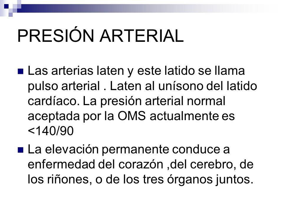 COMPLICACIONES La presión alta es llamada hipertensión y generalmente produce: Insuficiencia cardiaca y enfermedad coronaria.