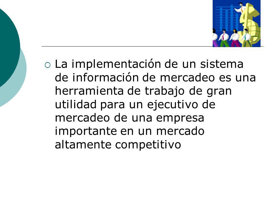 La implementación de un sistema de información de mercadeo es una herramienta de trabajo de gran utilidad para un ejecutivo de mercadeo de una empresa