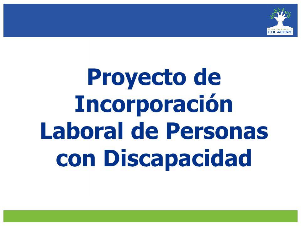 Proyecto de Incorporación Laboral de Personas con Discapacidad