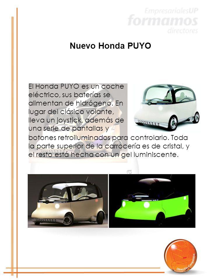 El Honda PUYO es un coche eléctrico, sus baterías se alimentan de hidrógeno.