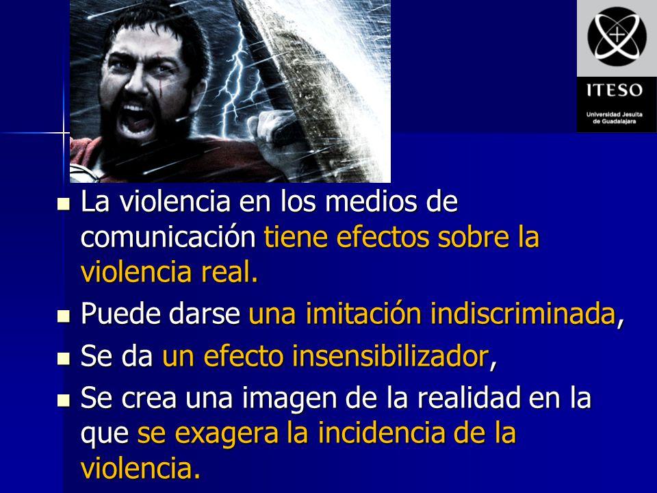 La violencia en los medios de comunicación tiene efectos sobre la violencia real. La violencia en los medios de comunicación tiene efectos sobre la vi