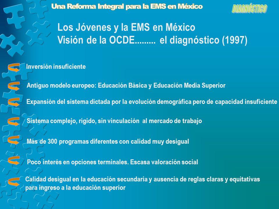 Los Jóvenes y la EMS en México Visión de la OCDE.........