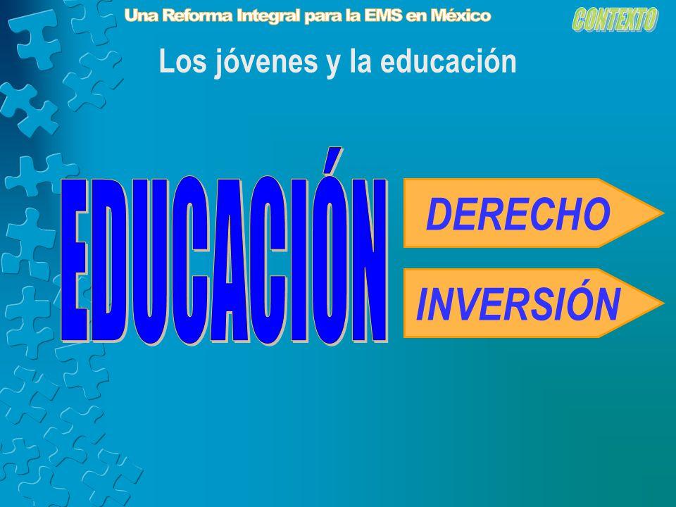 Los jóvenes y la educación DERECHO INVERSIÓN