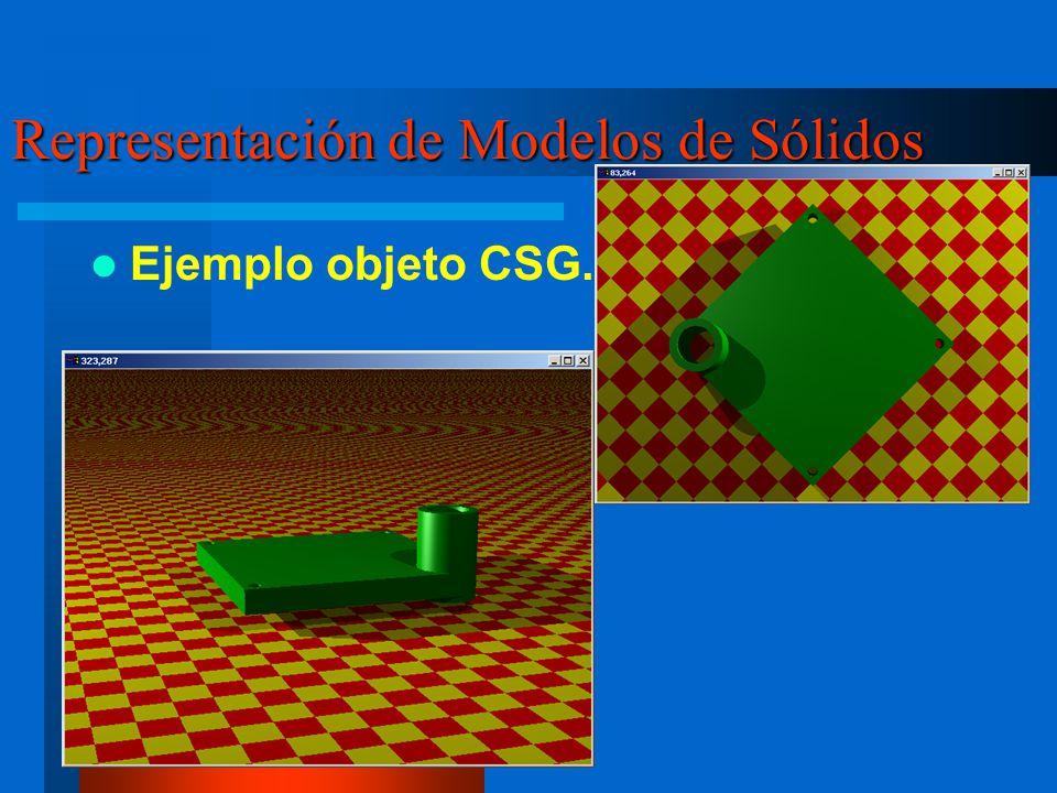Representación de Modelos de Sólidos Ejemplo objeto CSG.