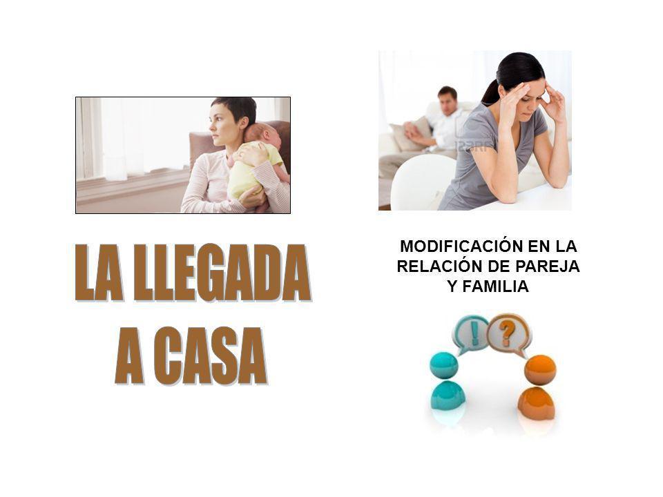 MODIFICACIÓN EN LA RELACIÓN DE PAREJA Y FAMILIA