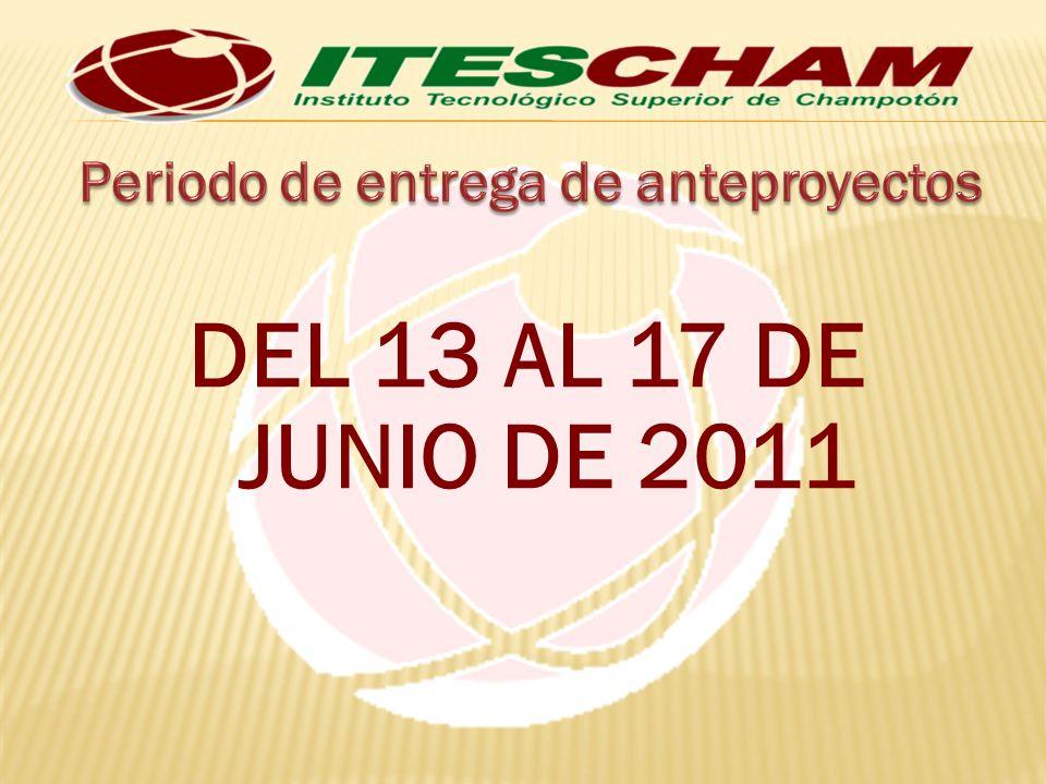DEL 13 AL 17 DE JUNIO DE 2011