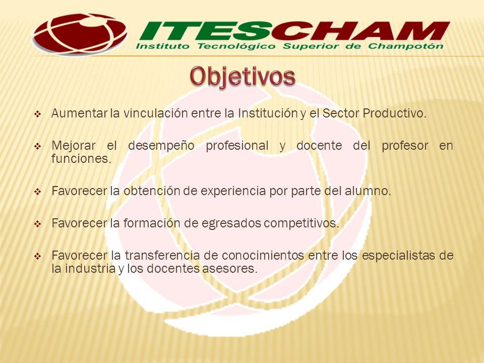 Aumentar la vinculación entre la Institución y el Sector Productivo.