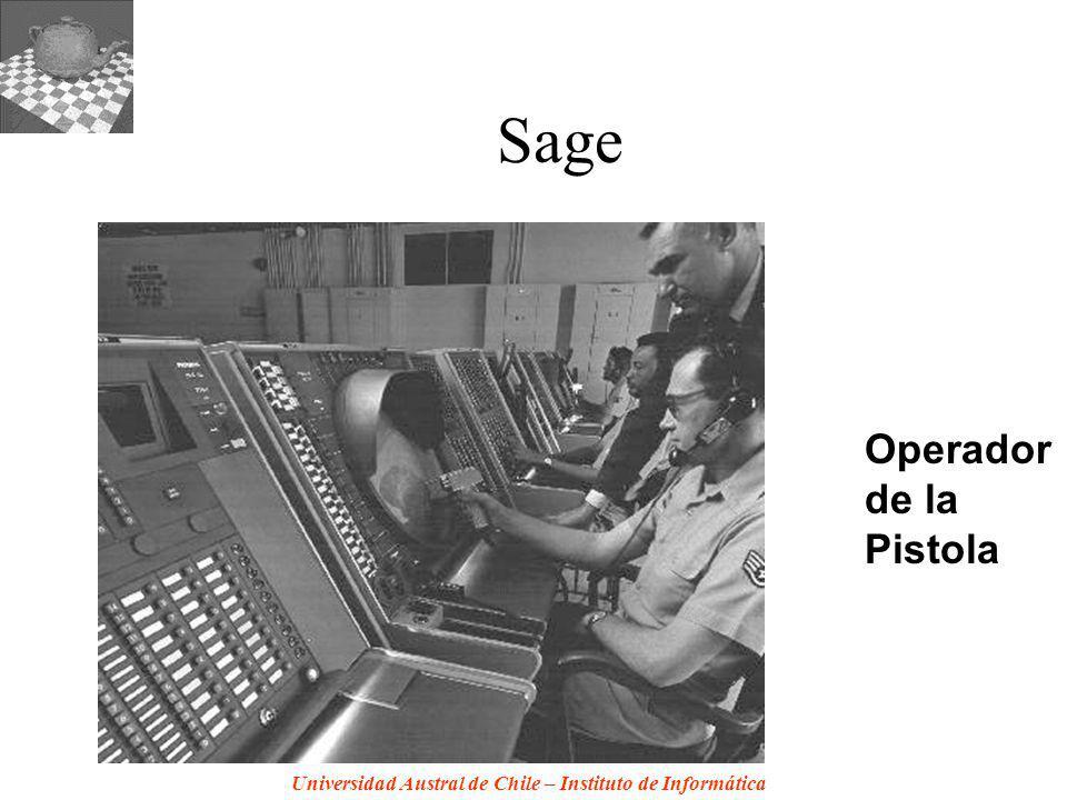 Universidad Austral de Chile – Instituto de Informática Sage Operador de la Pistola