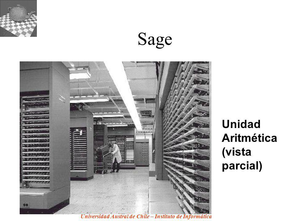 Universidad Austral de Chile – Instituto de Informática Sage Unidad Aritmética (vista parcial)