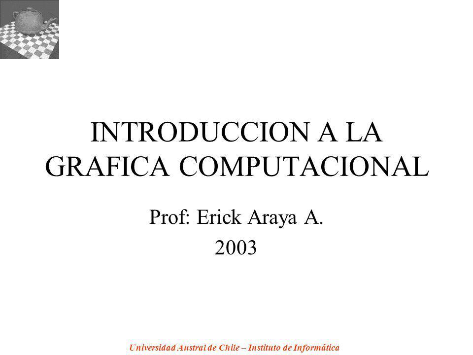 Universidad Austral de Chile – Instituto de Informática INTRODUCCION A LA GRAFICA COMPUTACIONAL Prof: Erick Araya A. 2003