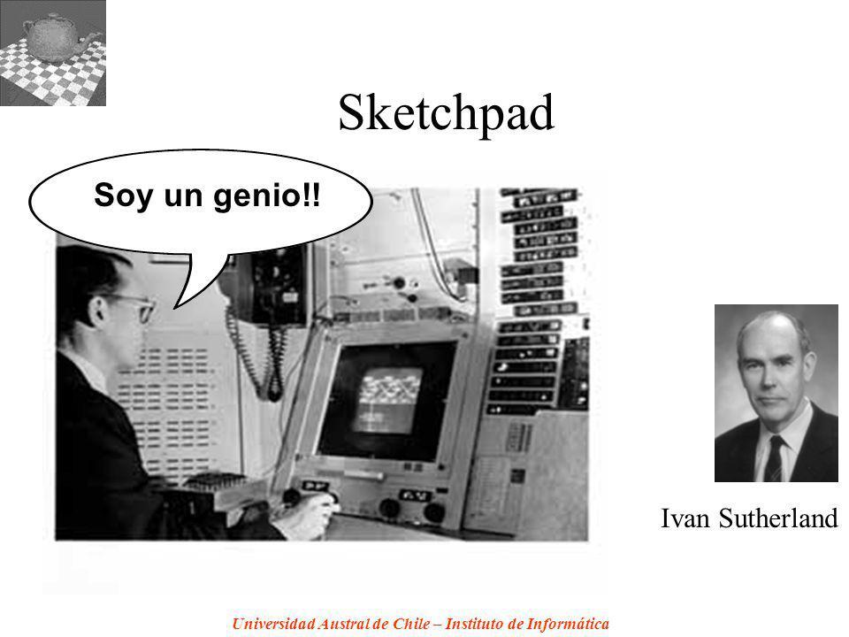Universidad Austral de Chile – Instituto de Informática Sketchpad Ivan Sutherland Soy un genio!!