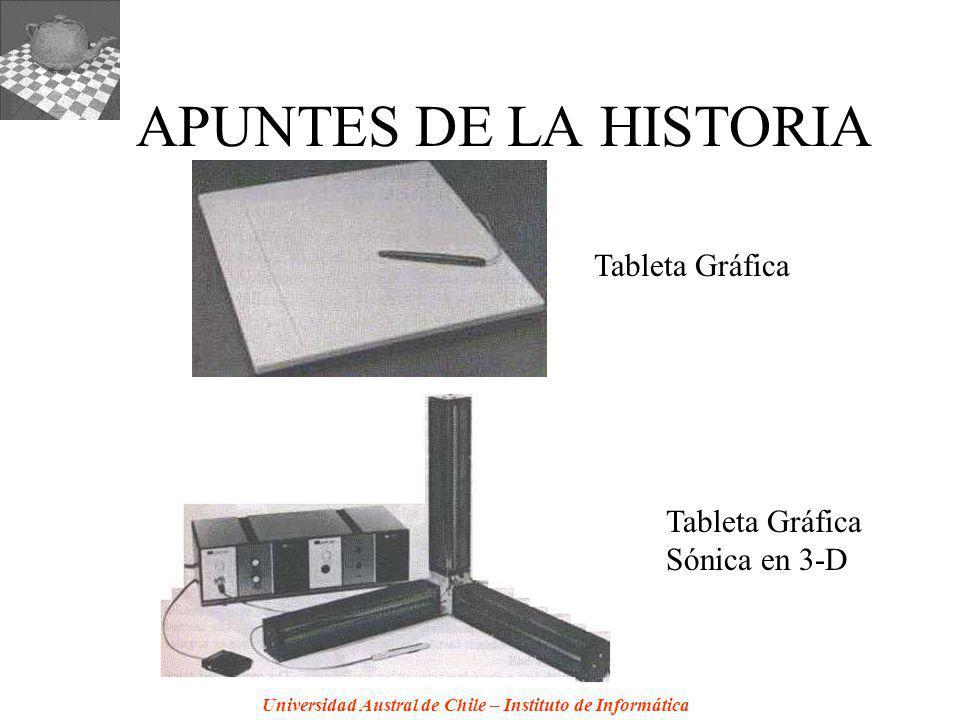 Universidad Austral de Chile – Instituto de Informática APUNTES DE LA HISTORIA Tableta Gráfica Sónica en 3-D
