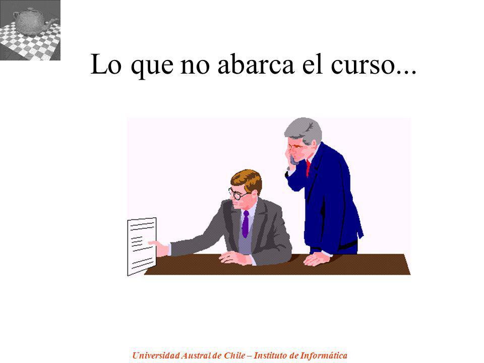 Universidad Austral de Chile – Instituto de Informática Lo que no abarca el curso...