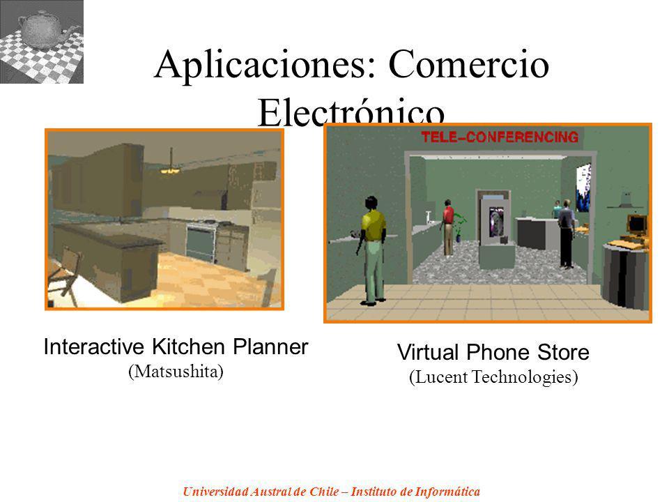 Universidad Austral de Chile – Instituto de Informática Aplicaciones: Comercio Electrónico Interactive Kitchen Planner (Matsushita) Virtual Phone Store (Lucent Technologies)
