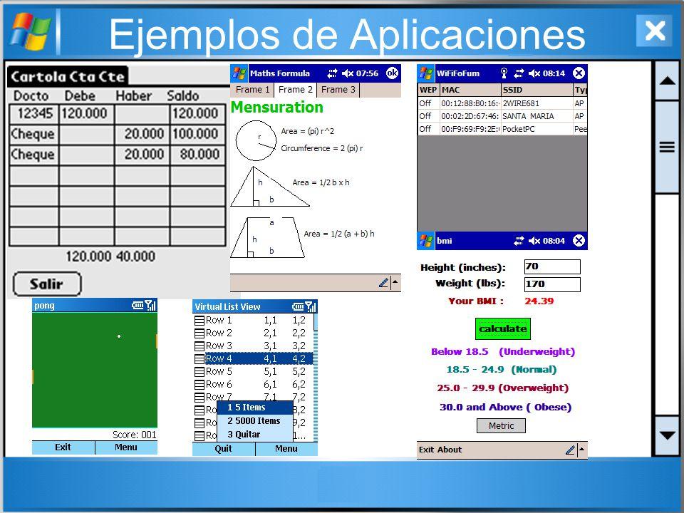 Herramientas J2ME (Java 2 Micro Edition).NET Compact Framework Aplicaciones Nativas (C, C++): eMbedded Visual Tools: está conformada por eMbedded Visual Basic y eMbedded Visual C++.
