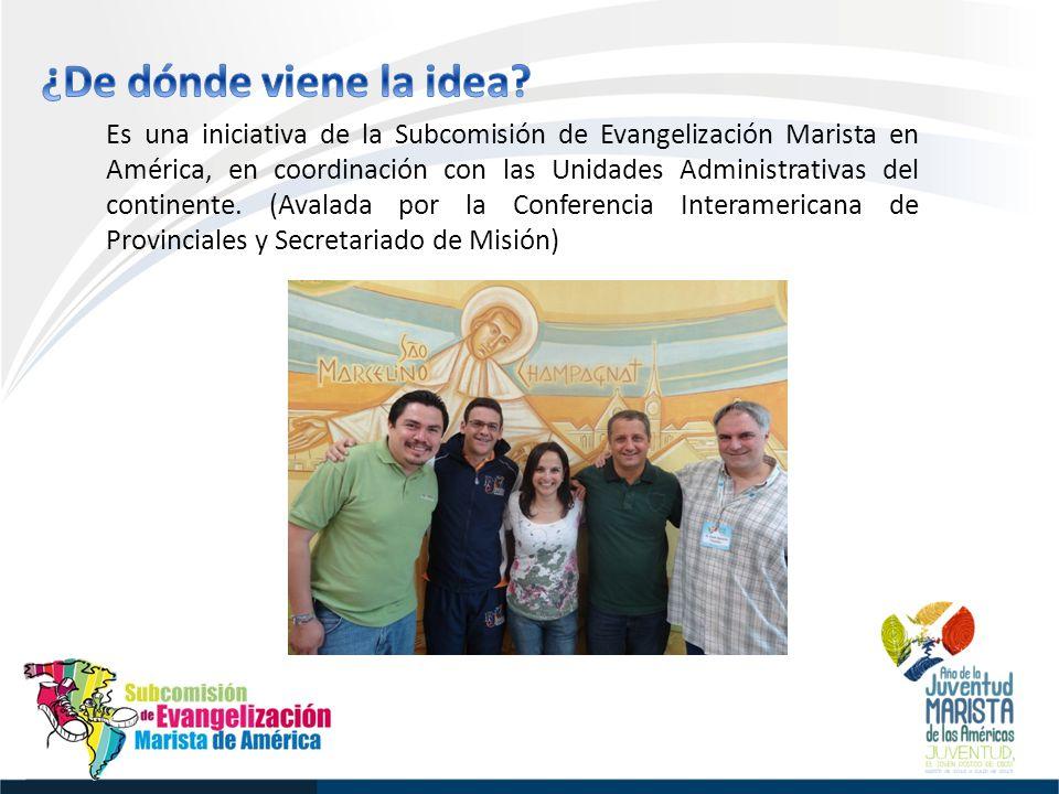 Es una iniciativa de la Subcomisión de Evangelización Marista en América, en coordinación con las Unidades Administrativas del continente.