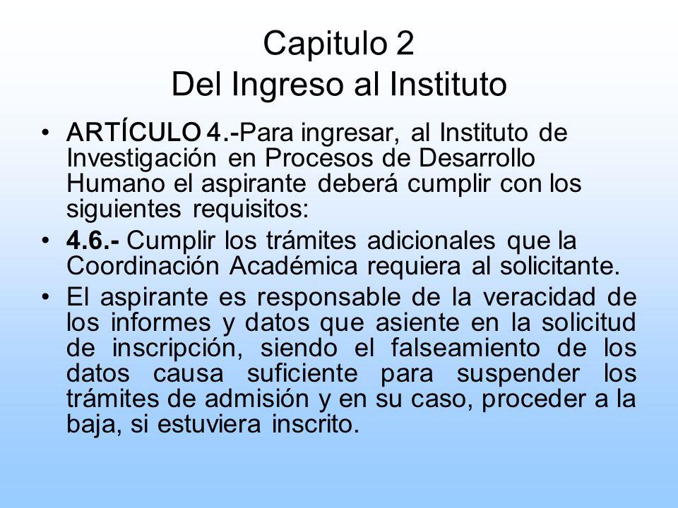 CAPÍTULO 3 DE LOS ALUMNOS ARTÍCULO 21.- El Alumno tiene derecho a solicitar por escrito, al Director, la autorización para recursar materia; la que una vez autorizada se programará dentro del mismo semestre y de acuerdo a las posibilidades de programación.