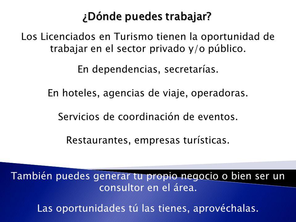 """La presentaci�n """"LICENCIATURA EN TURISMO. �Qu� es la Licenciatura ..."""