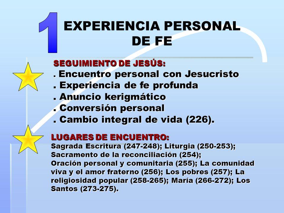 SEGUIMIENTO DE JESÚS:. Encuentro personal con Jesucristo.
