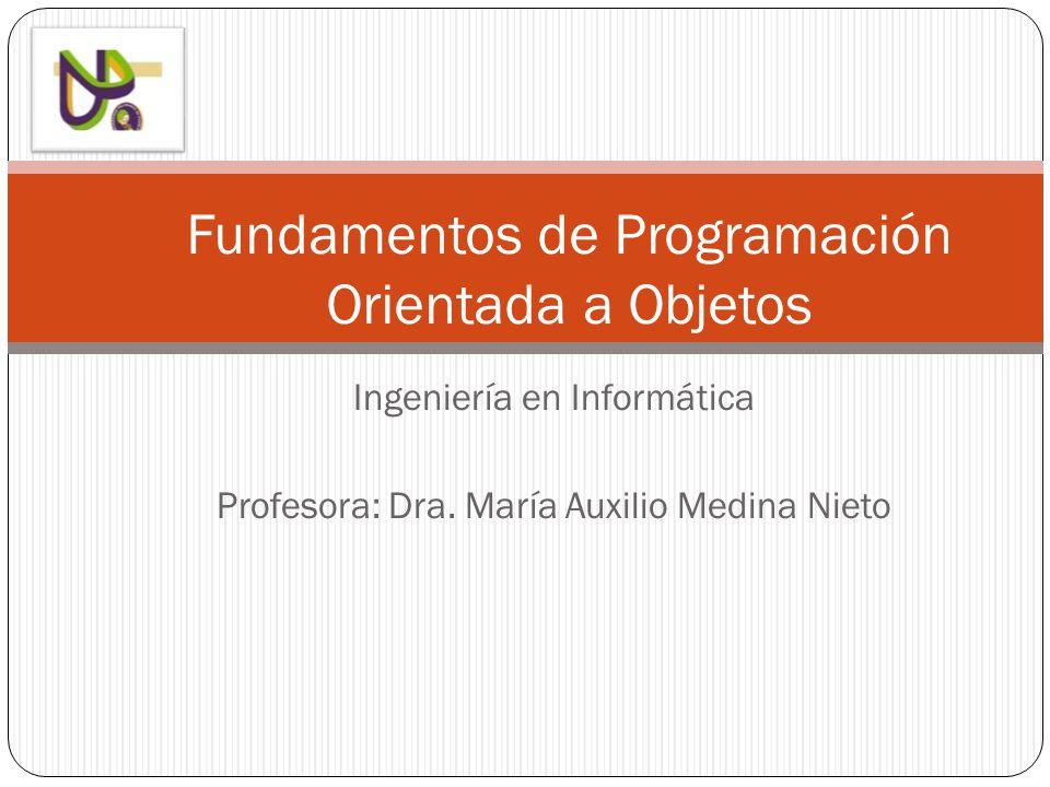 Ingeniería en Informática Profesora: Dra.