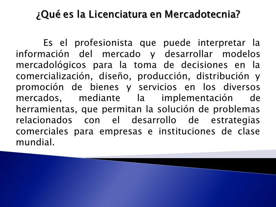 ¿Qué es la Licenciatura en Mercadotecnia.