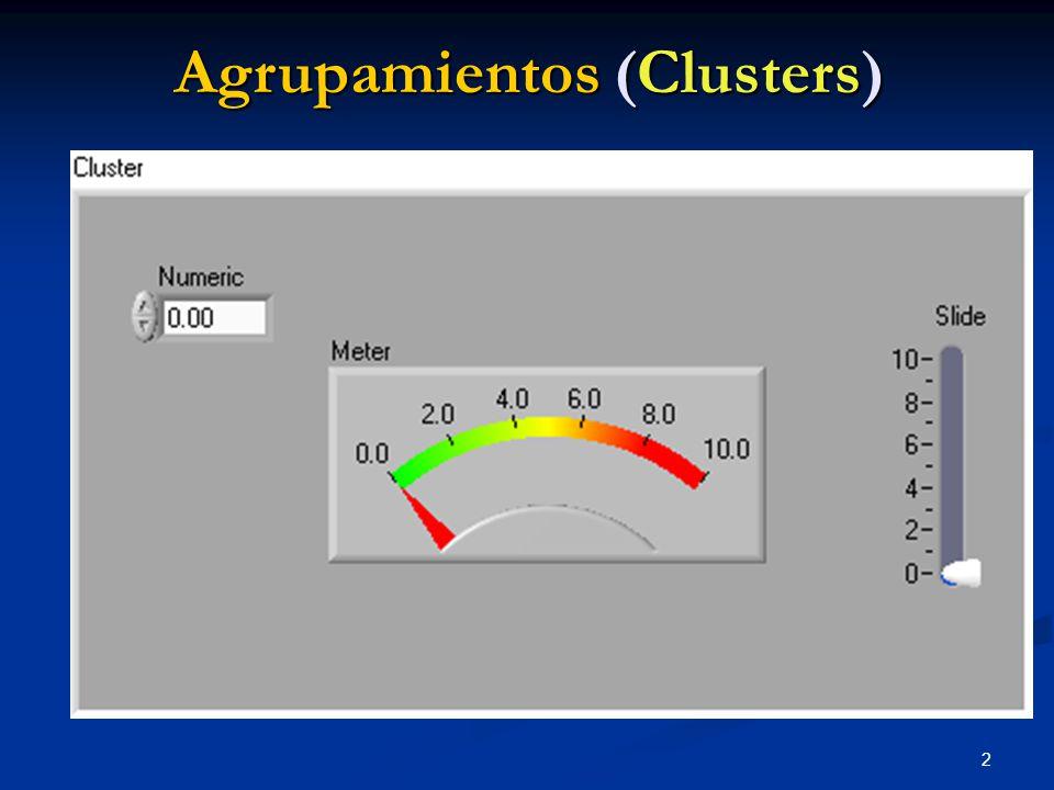 2 Agrupamientos (Clusters)