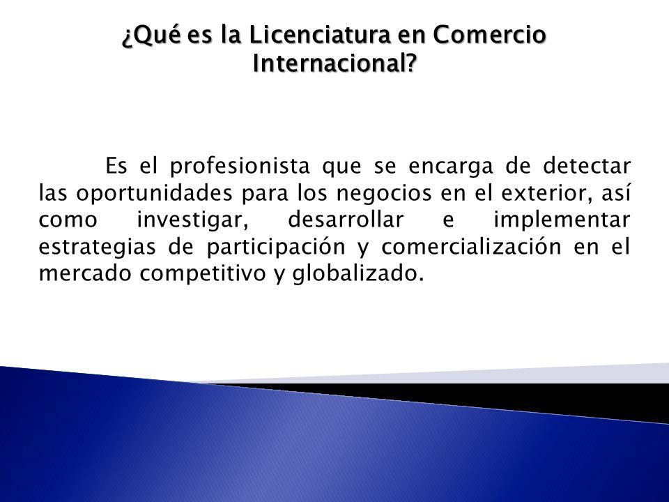 ¿Qué es la Licenciatura en Comercio Internacional.
