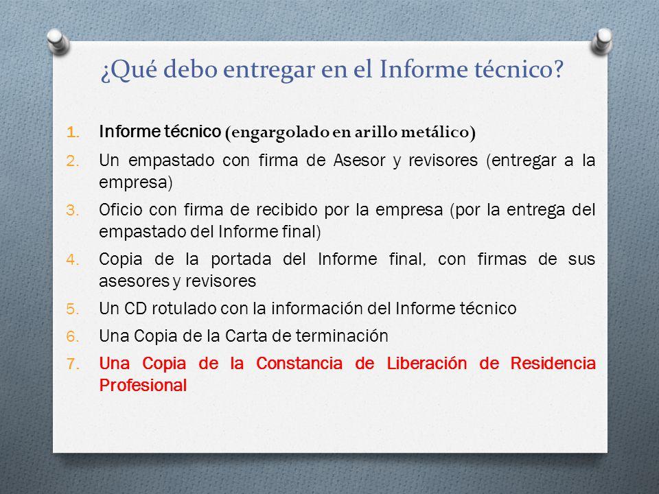 1.Informe técnico (engargolado en arillo metálico) 2.
