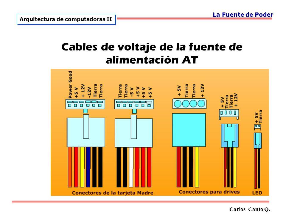 Cables de voltaje de la fuente de alimentación AT Carlos Canto Q.