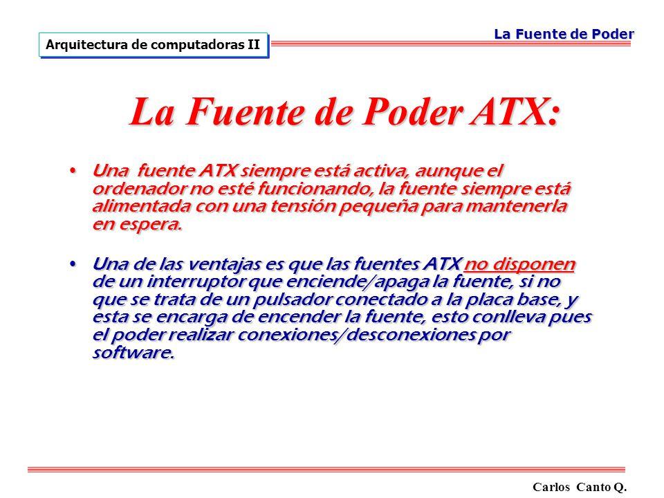 Una fuente ATX siempre está activa, aunque el ordenador no esté funcionando, la fuente siempre está alimentada con una tensión pequeña para mantenerla en espera.Una fuente ATX siempre está activa, aunque el ordenador no esté funcionando, la fuente siempre está alimentada con una tensión pequeña para mantenerla en espera.