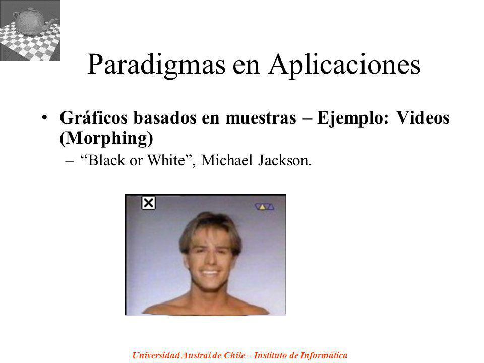 Universidad Austral de Chile – Instituto de Informática Paradigmas en Aplicaciones Gráficos basados en muestras – Ejemplo: Videos (Morphing) –Black or White, Michael Jackson.