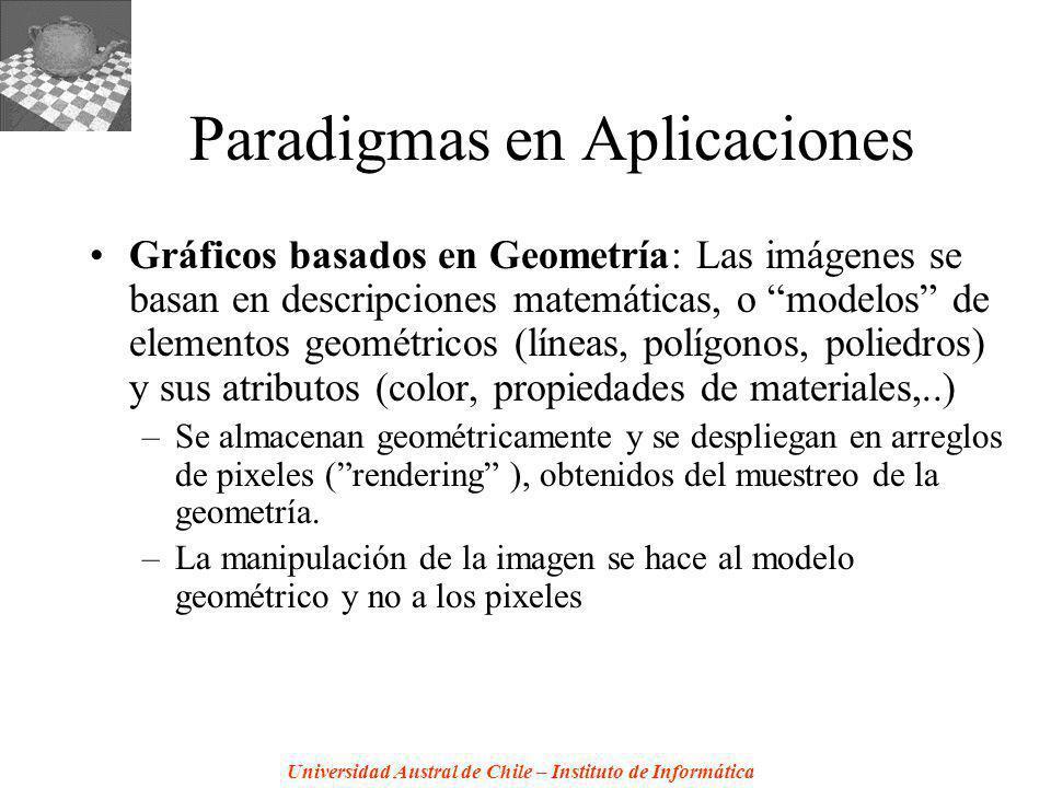 Universidad Austral de Chile – Instituto de Informática Paradigmas en Aplicaciones Gráficos basados en Geometría: Las imágenes se basan en descripcion