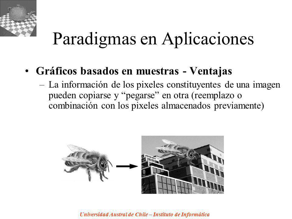 Universidad Austral de Chile – Instituto de Informática Paradigmas en Aplicaciones Gráficos basados en muestras - Ventajas –La información de los pixe
