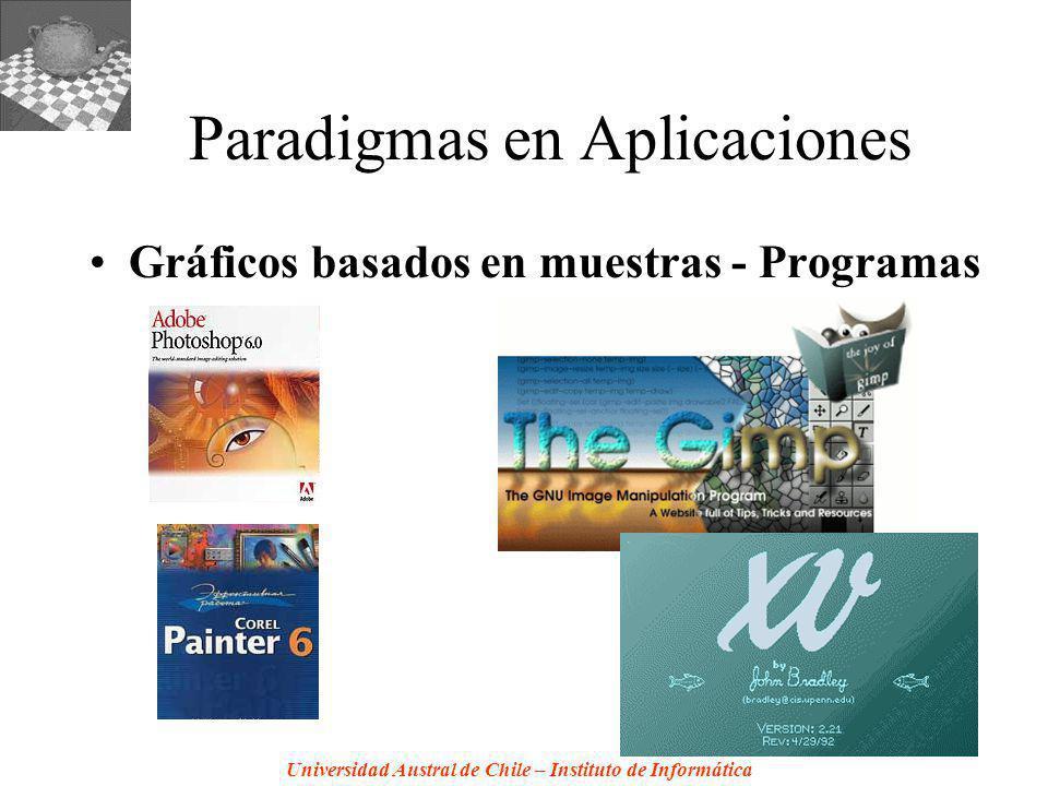 Universidad Austral de Chile – Instituto de Informática Paradigmas en Aplicaciones Gráficos basados en muestras - Programas