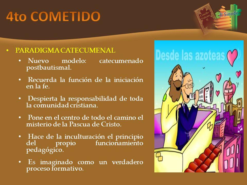 PARADIGMA CATECUMENAL Nuevo modelo: catecumenado postbautismal.