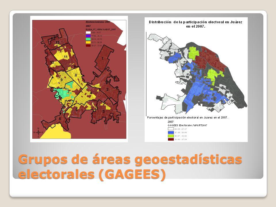 Grupos de áreas geoestadísticas electorales (GAGEES)