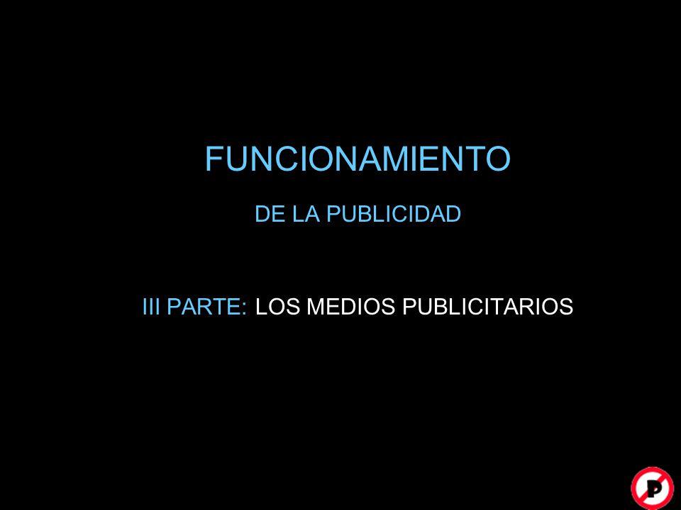 FUNCIONAMIENTO DE LA PUBLICIDAD III PARTE: LOS MEDIOS PUBLICITARIOS