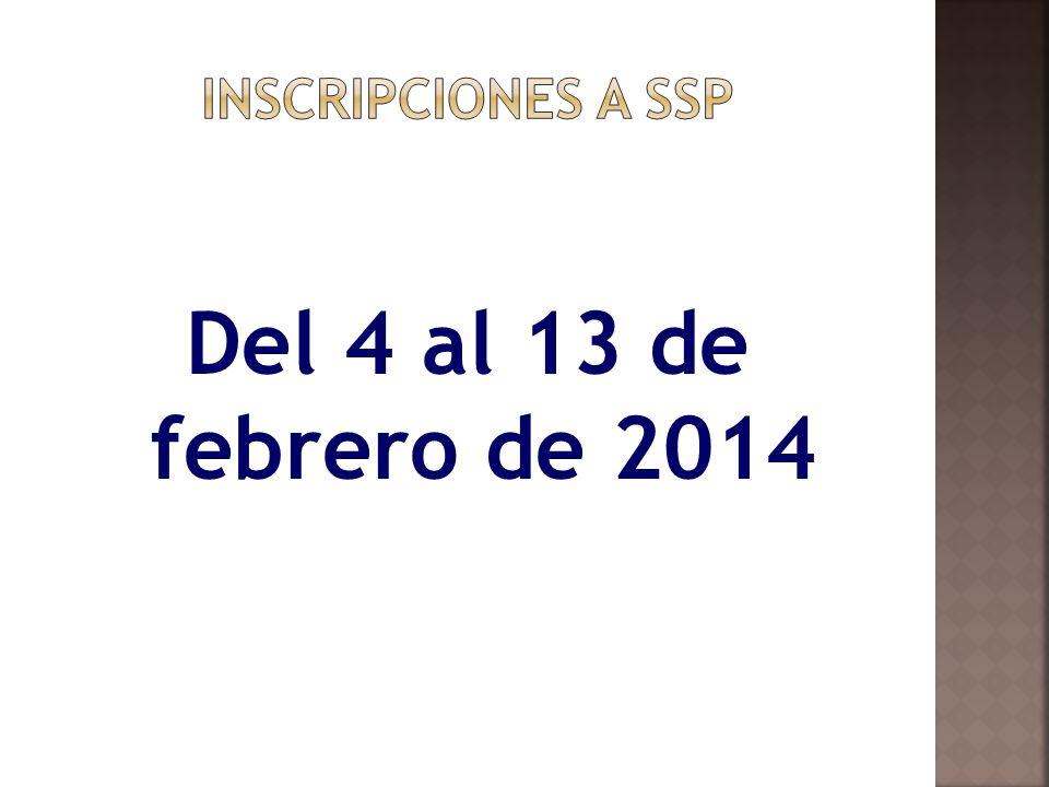 Del 4 al 13 de febrero de 2014