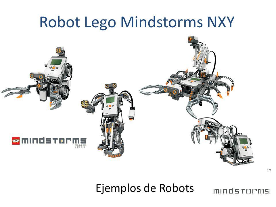 Robot Lego Mindstorms NXT 16 Es un Robot construido por la marca de juegos Lego. Se caracteriza por que este robot se puede armar en diversos modelos,