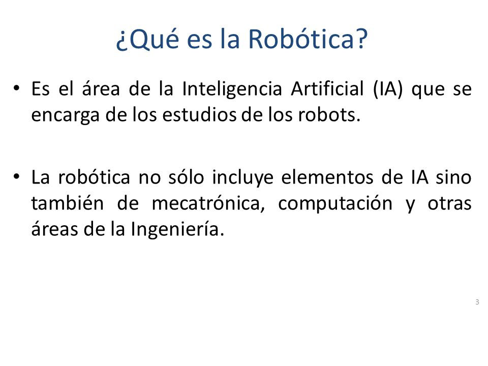 Agenda Introducción a la Robótica Descripción del Robot Lego Mindstorms NXT Programación del Robot Lego Mindstorms NXT Otras aplicaciones de la robóti